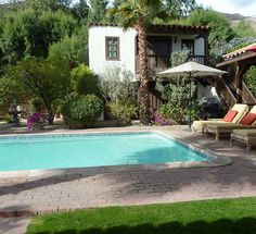 Palm Springs house rental - Looking at the casita across the pool from the main house