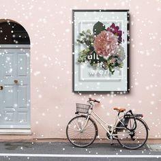 All is Well -poster / Bloom by Armi Helena All Is Well, Marimekko, Lighter, Ava, Bloom, Wreaths, Instagram Posts, Poster, Design