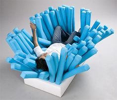 Toothbrush Inspired Sofa Concept. You might just feel like Nemo after that.