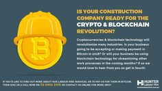 It's important to evolve with the times & so now accept payment for labour hire services via bitcoin - and think we're the first in Australia to do it! Bitcoin Company, Blockchain Technology, Sydney, Construction, Australia, Building