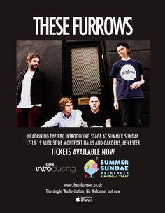 These Furrows headlining BBC Introducing @ Summer Sundae