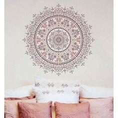 damask mandala stencil ile yapılan işler ile ilgili görsel sonucu