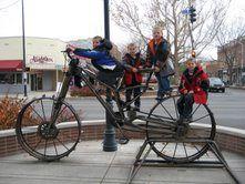 Family Bike Ride in Park City, Utah