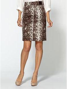 MICHAEL Michael Kors Python Pencil Skirt With Belt Detail | Piperlime