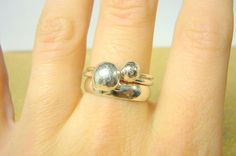Sterling silver stacking rings Alternative