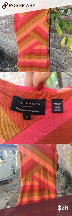Ted Baker dress Super fun Ted Baker dress Gently loved condition  Super soft and comfortable Ted Baker London Dresses