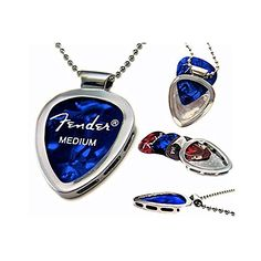 PickBay Chrome Guitar Pick Holder Pendant Necklace w Adjustable Nickel Chain Necklace & PICK Set PickBay http://www.amazon.com/dp/B004C8PDBW/ref=cm_sw_r_pi_dp_d1mYwb1767D5C