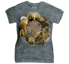 Dazzle your friends with the stylish Animal Spirit Circle Womens T-Shirt from The Mountain! 3d T Shirts, Tees For Women, Animal Faces, Spirit Animal, Cotton Tee, Spun Cotton, Tshirts Online, Classic T Shirts, Lady