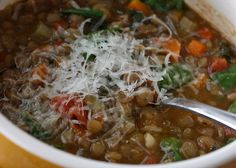 Gojee - Spinach, Tomato and Lentil Soup by Aggie's Kitchen