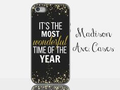 It's The Most Wonderful Time Of The Year It's The Most Wonderful Time Of The Year Christmas Holiday Quote Glitter Sparkle Winter Gold Gift Samsung iPhone 5s 4 4s Case 6 plus Tough by MadisonAveCases