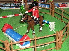 playmobil horse jumping
