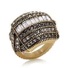 "Heidi Daus ""Heidi's Master Clasp"" Crystal-Accented Ring - Black"