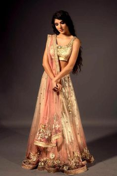 Ombre Pink Lengha // Available at BIBI LONDON   // Mira@bibilondon.com   https://www.facebook.com/TheOfficialCoutureClub