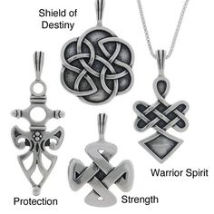 Jewelry Trends Sterling Silver Celtic Protection Pendants (Options) by Carolina…