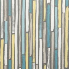 Aqua Yellow Fabric  Modern Grey Aqua Upholstery by PopDecorFabrics, $62.00