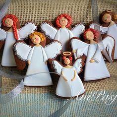 Angel#anioł#marrychristmas #anipasjepierniki #cookies