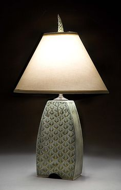 Small Arts and Crafts Lamp: Jim and Shirl Parmentier: Ceramic Table Lamp - Artful Home