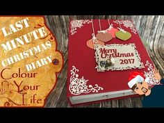 Scrapbook album - Christmas diary last minute quick and easy to get rid of old papers - YouTube
