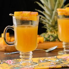 ... this wonderful cocktail of pineapple juice mulled with spices and rum