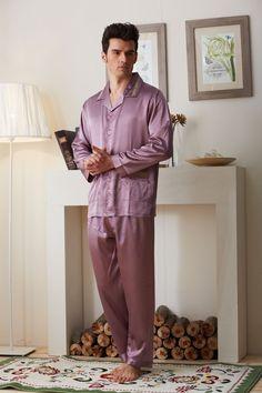Men s Pajamas Spring Autumn Long Sleeve Sleepwear Cotton Plaid Cardigan  Pyjamas Men Lounge Pajama Sets Plus a24ba268d