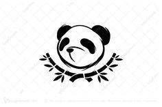 Logo for sale: Panda Bamboo Logo