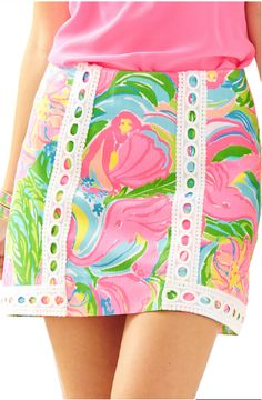 Lilly Pulitzer Pansy Lace Skort - So A Peeling