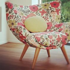 Rifle Paper Co. for Villa Nova Fabric. Such a lovely chair with beautifully designed fabric.