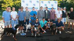 NY Rangers hockey team members at the 1st annual dog walk