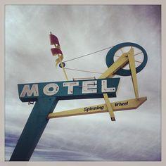 All sizes | Random themed motel. #vintageutahsign | OldBrochures.com