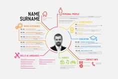 Vector Resume Template with thin line icons and place for your photo. All in vector .eps and .ai (Adobe Illustrator CS5) format. My other CV templates: ZIP contains: - source .AI Adobe