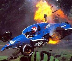 Erik Comas, German GP, Hockenheim, 1991.
