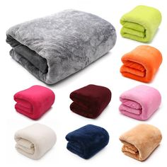Ashui Solid Bed Blankets Warm Solid Bed Throws Super Soft Blanket Living Room Bedroom Air Conditioning Sofa Chair Cover for Sofa Bedding