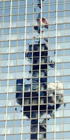 'Fernsehturm Glas Spiegelung Berlin Fotografie' von Falko Follert bei artflakes.com als Poster oder Kunstdruck $16.63
