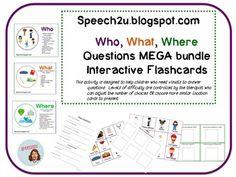 Interactive WH question Megabundle: Speech Therapy Autism