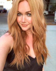 Added a little length with our 16 extensions in Signature Strawberry Blonde { # - All For Hair Color Trending Blonde Hair At Home, Summer Blonde Hair, Red Blonde Hair, Blonde Hair With Highlights, Blonde Balayage, Langer Bob Blond, Strawberry Blonde Hair Color, Blonde Hair Extensions, Shades Of Blonde
