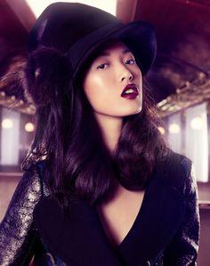"""Orient Express""   Models: Tian Yi, Bonnie Chen, Miao Bin Si, Danni Li & Ma Jing, Photographer: Stockton Johnson, Vogue China, F/W 2012"