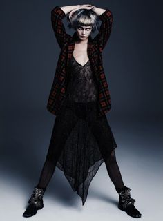 Frida Gustavsson by Steven Pan for Flair Fall 2013 Punk Attitude…. Frida Gustavsson by Steven Pan for Flair Fall 2013 – withoutstereotypes Dark Fashion, Grunge Fashion, Fashion Art, Editorial Fashion, High Fashion, Look Rock, Rock Style, My Style, Grunge Style