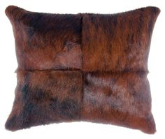 Hair on hide square pillow
