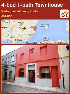 Townhouse for Sale in Pedreguer, Alicante, Spain with 4 bedrooms, 1 bathroom - A Spanish Life Alicante Spain, Townhouse, Property For Sale, Terrace, Spanish, Construction, Patio, Bedroom, Outdoor Decor