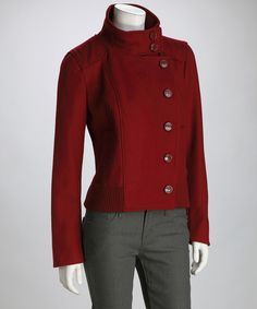 Take a look at this Garnet Military Wool-Blend Coat on zulily today!