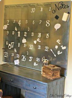Pottery Barn inspired DIY metal wall calendar