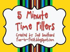 These cards can be used to get your students minds thinking even when you only have 5 extra minutes....