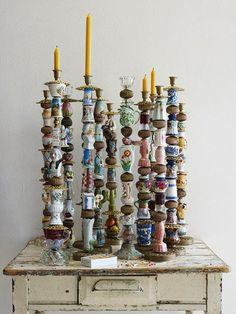 Porcelain Candlesticks