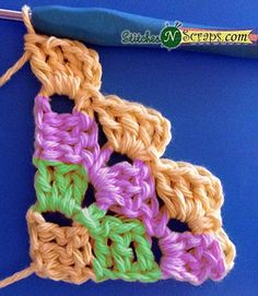 Row 4 - Diagonal Box Stitch Tutorial - Stitches'N'Scraps.com