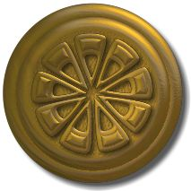 large metal button embellishment