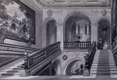 Ferrieres.  -  the main staircase.