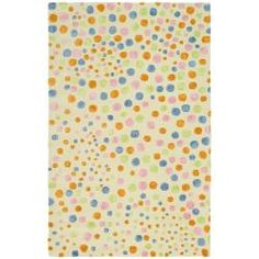Handmade Soho Bubblegum Ivory/ Multi N. Z. Wool Rug (5'x 8') | Overstock.com Shopping - Great Deals on Safavieh 5x8 - 6x9 Rugs