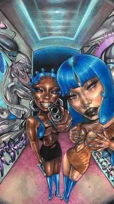 Black Art Painting, Black Artwork, Black Girl Art, Art Girl, Dope Cartoon Art, Indie Art, Art Pictures, Photos, Afro Art