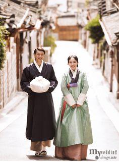 Hanbok, korean traditional clothes / My wedding / 경사스러운 날 고운 한복을 입다 / 한복 린