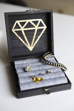 Gatsby Inspired DIY Jewelry Box | Shelterness